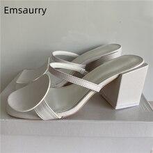 Assimétrico bloco geométrico sandálias de salto feminino quadrado círculo redondo cinta slingback deslizamento-on verão sapatos de salto alto mulher