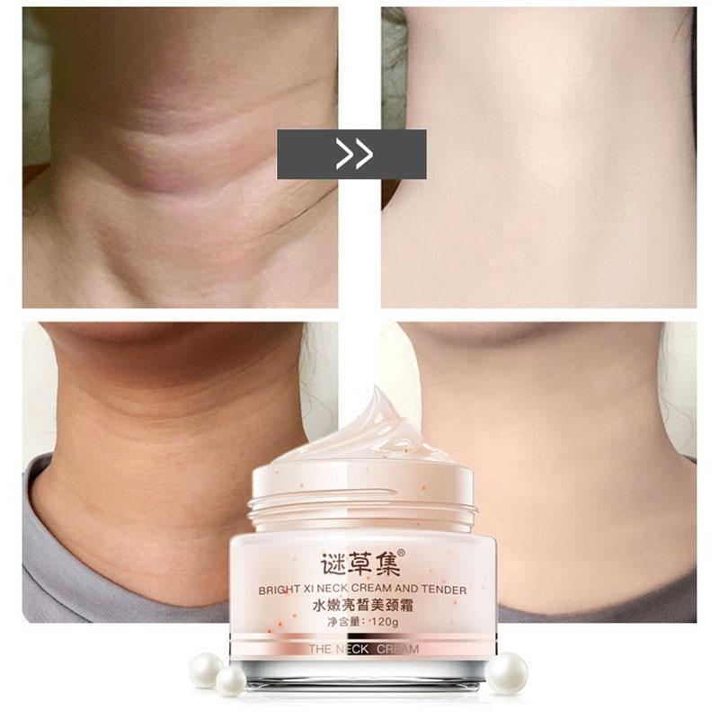 120g anti wrinkle neck firming cream moisturizing remove wrinkle cream whitening skin care beauty firming cream MICAOJI Neck Cream RemoveLines Moisturizing Nourishing Firming Anti Wrinkle Whitening  Skin Care for Neck Care