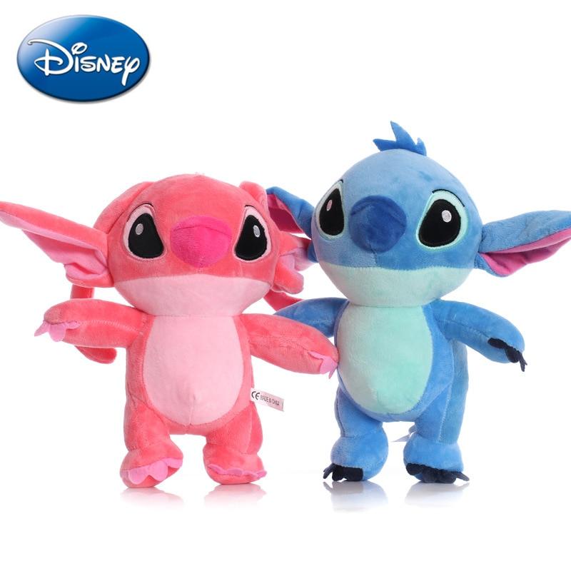 13Cm/22Cm Disney Paar Staande Lilo & Stitch Cartoon Gevulde Pluche Poppen Anime Pluche Baby Speelgoed Hanger speelgoed Meisje Kid Xmas Gift