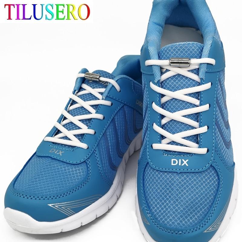 1 par de cordones de Metal sin cordones, cordón de zapato redondo estirado para perezosos, cordones de zapatos antideslizantes, cordones elásticos de 16 colores