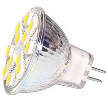 Livraison gratuite!!! 12LED MR11Glass couvercle Blub lampe 5050 SMD 12V immable blanc chaud/blanc remplacer lampe halogène 15W 20W 1 PCS/LOT