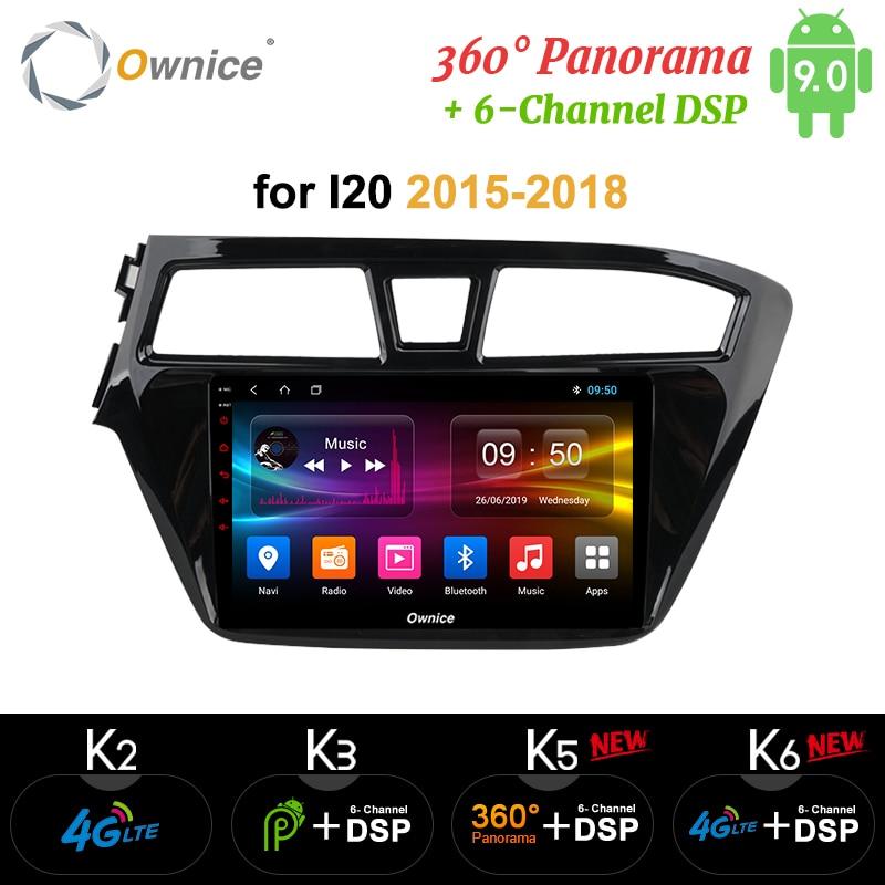 Ownice K3 K5 K6 Navi, reproductor de Radio Estéreo 2Din Android 9,0 GPS para coche para Hyundai i20 2014 2015 2016 2017 4G 360, DSP SPDIF panorámica