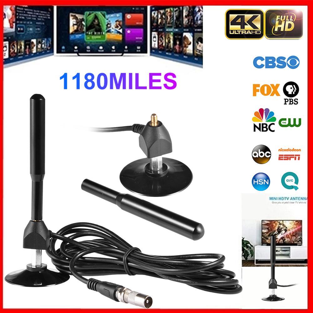 Freevew – antenne numérique intérieure amplifiée 4K, 1180 Miles avec HD1080P DVB-T2, pour la diffusion sur les chaînes locales