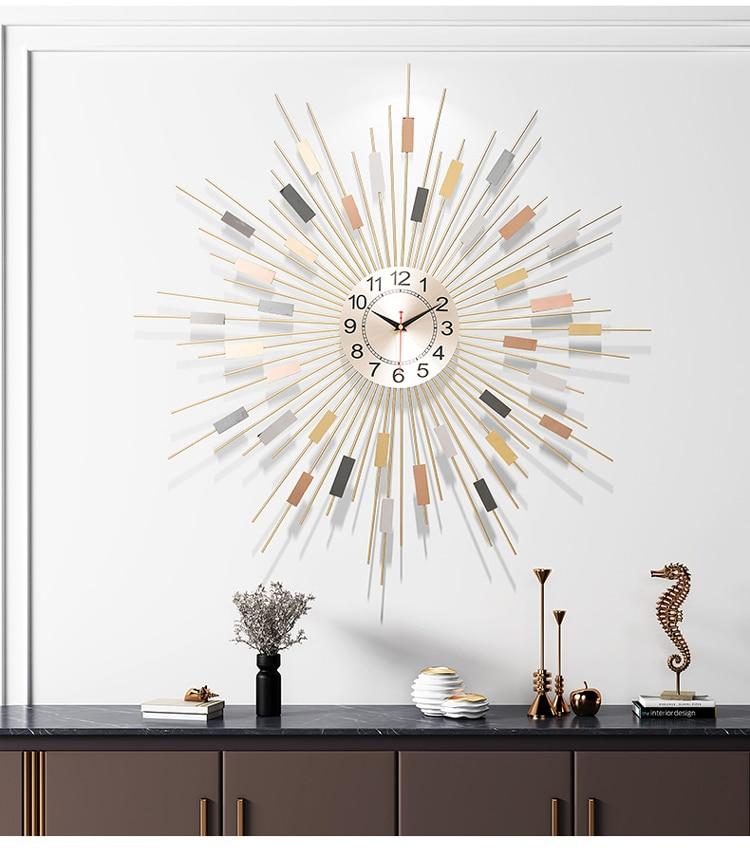 Mute quartz clock large wall clock living room luxury European modern fashion clock bedroom home decor часы настенные