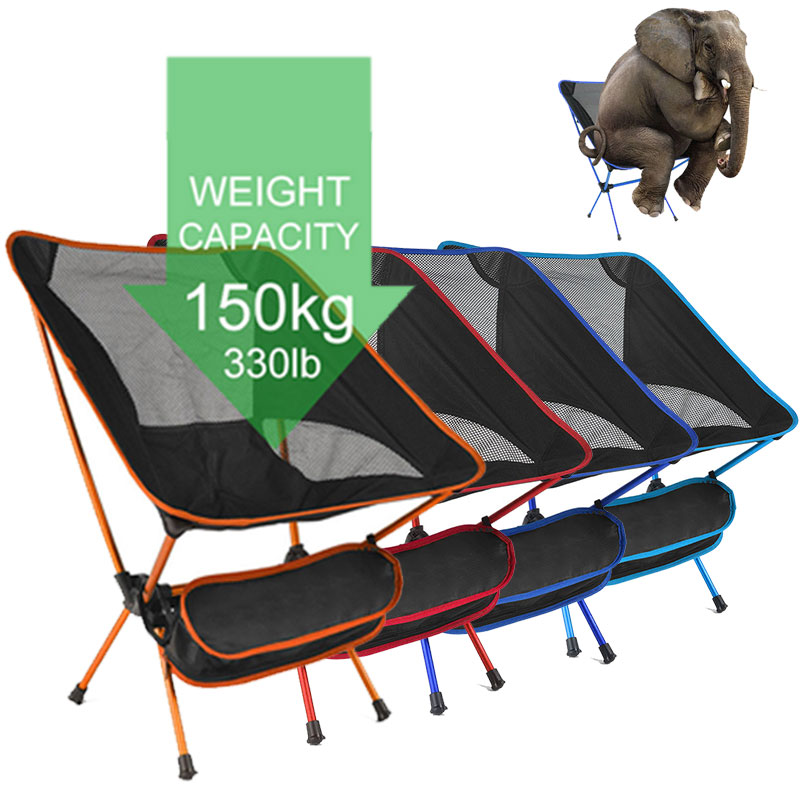 Ultralight Folding Camping Chair Fishing BBQ Hiking Chair Fishing Picnic Chair Outdoor Tools Travel Foldable Beach Seat Chair