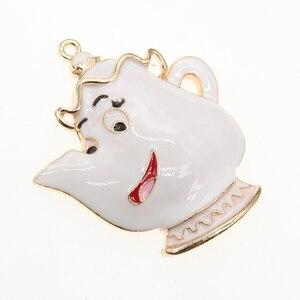10pcs/lot  Fashion Jewelry Enamel Teapot Shape Pendant Charm For Necklace