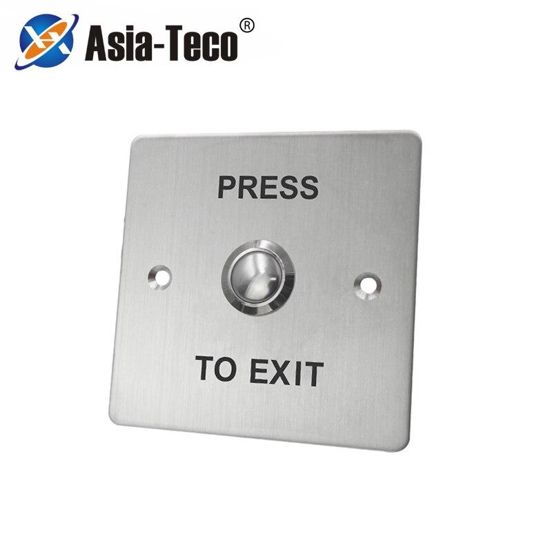 Interruptor de liberación de botón de salida de puerta de acero inoxidable para Control de sistema de Bloqueo de control de acceso a casa