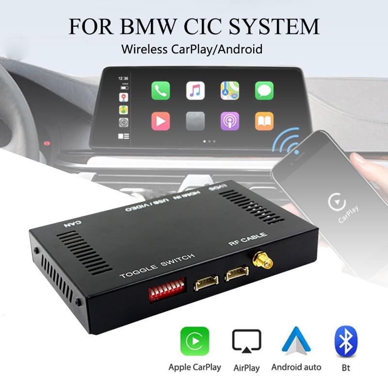 Carplay-activador inalámbrico para coche, con Android, interfaz para coche Box For-BMW CIC 1, 2, 3, 4, 5, 6, 7 Series E60, E70, E71, E84, F01, F02, F10