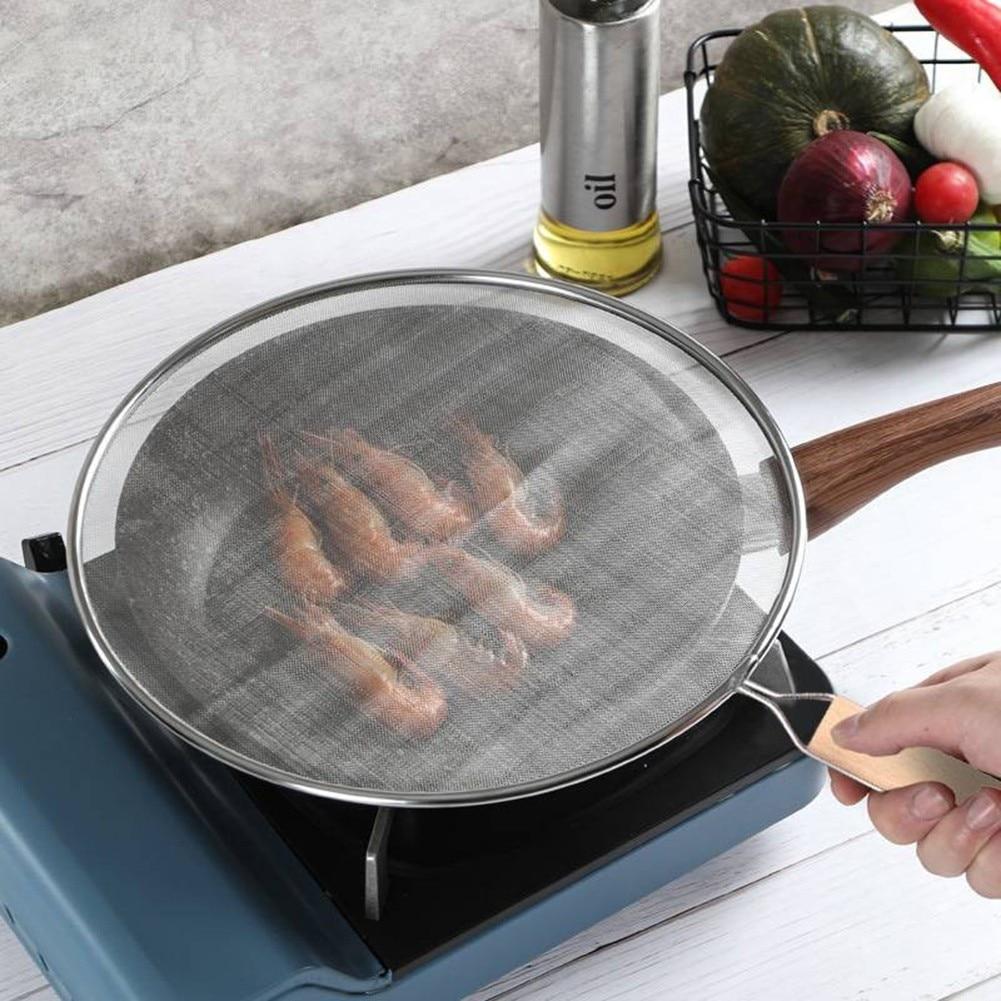 Сетчатый котелок из нержавеющей стали для приготовления пищи, кухонные инструменты для приготовления пищи, экран для приготовления масла, ...