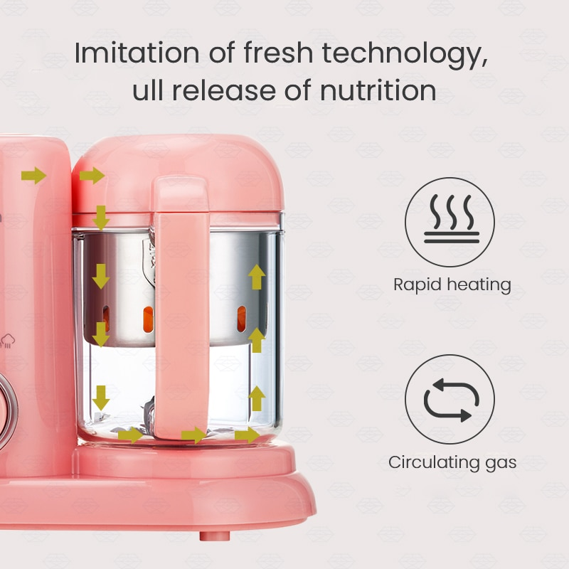 Baby Food Supplement Machine Multifunctional Cooking Machine Electric Baby Food Supplement Electric Mixer Steaming and Cooking enlarge