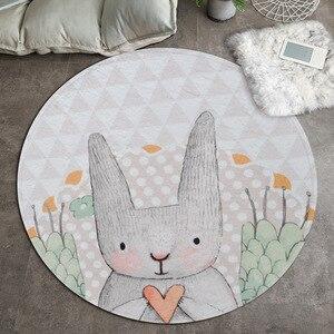 Cartoon Rabbit Living Room Floor Mat Coffee Table Mat Bedroom Bedside Blanket Porch Door Mat Children's Room Carpet Cute Home