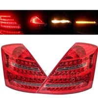 led rear reflector tail light for mercedes benz w221 s class 2007 2008 2009 signal stop brake warnig lamp car accessories