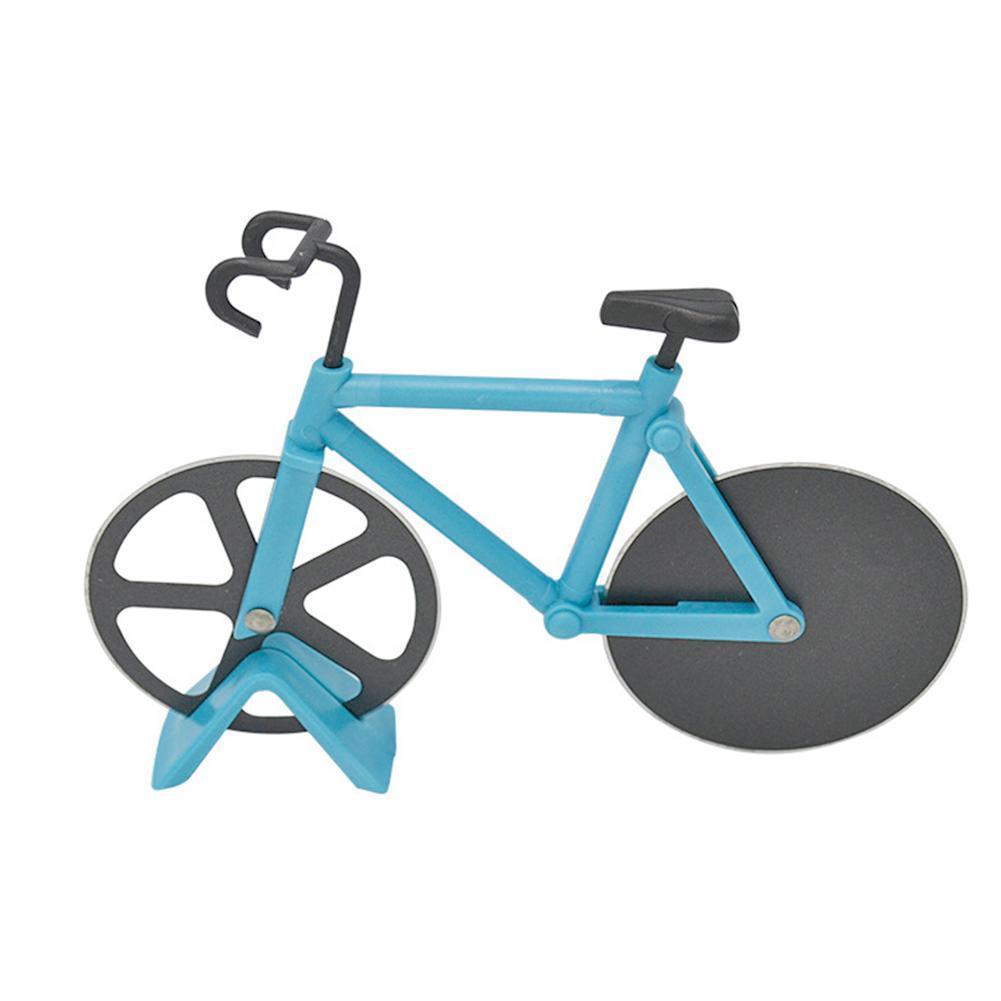 1PC Steel Pizza Knife Two-wheel Shape Tool Cutting Round Bike Bicycle Kni Cutter X9J6 M7B8