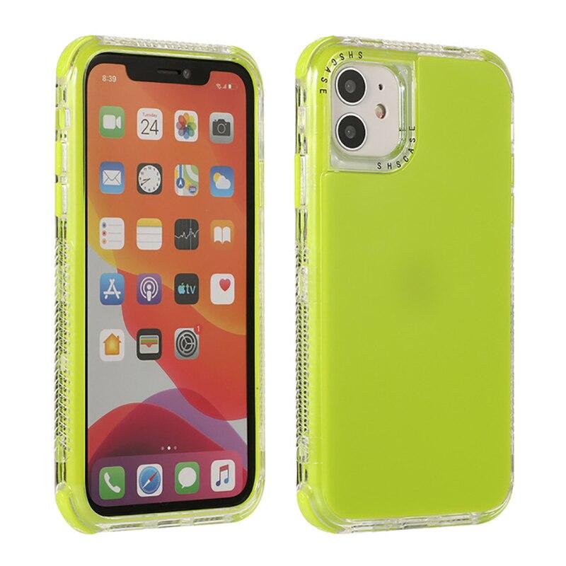 Противоударный чехол бампер карамельных цветов для iPhone 12 12pro Max 11Pro, однотонная мягкая задняя крышка для iPhone 11 11pro Max XR X Сумки для телефона      АлиЭкспресс