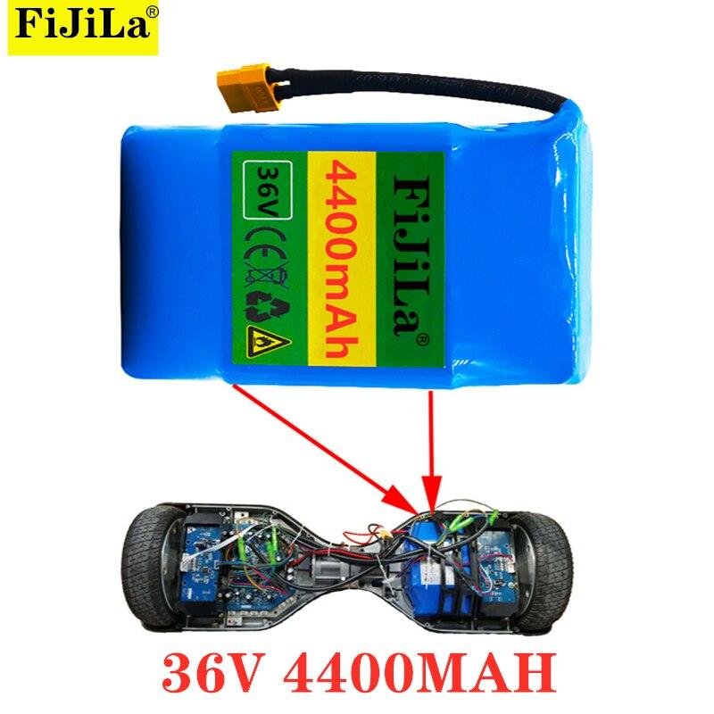 10s2p 36 فولت ليثيوم أيون بطارية قابلة للشحن 4400 mAh 4.4AH بطارية للكهرباء الذاتي شفط hoverboard الدراجة الهوائية الأحادية العجلة