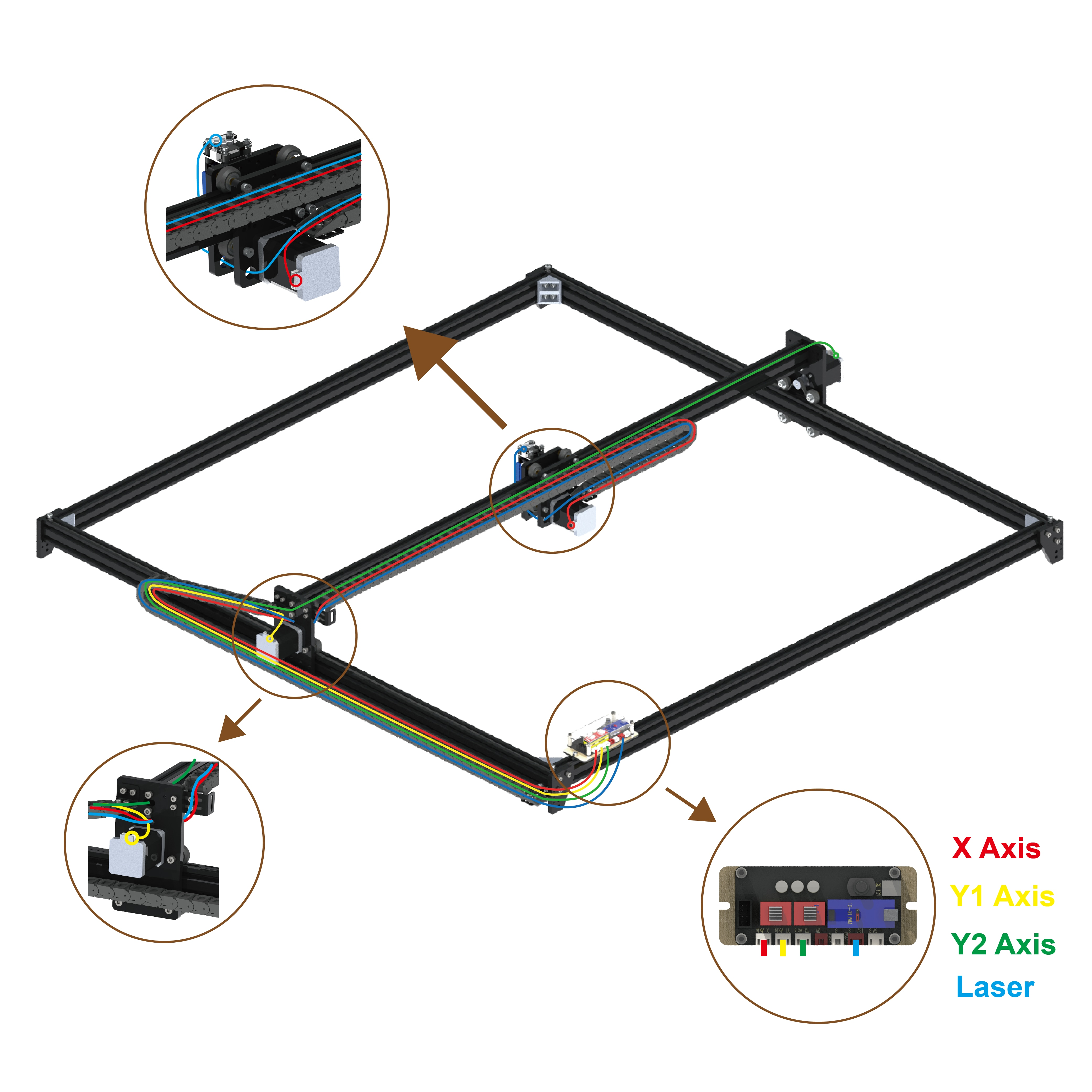 40W Laser Engraving Cutting Wood With GRBL Motherboard Laser Printer/Engraving Machine CNC Laser Engraver For Metal enlarge