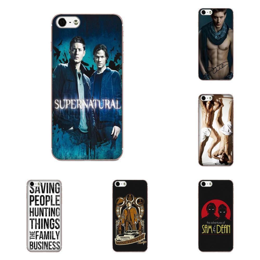 For Apple iPhone 4 4S 5 5C 5S SE SE2 6 6S 7 8 11 Plus Pro X XS Max XR Phone Case Silicone Supernatural Dean Sam Winchester