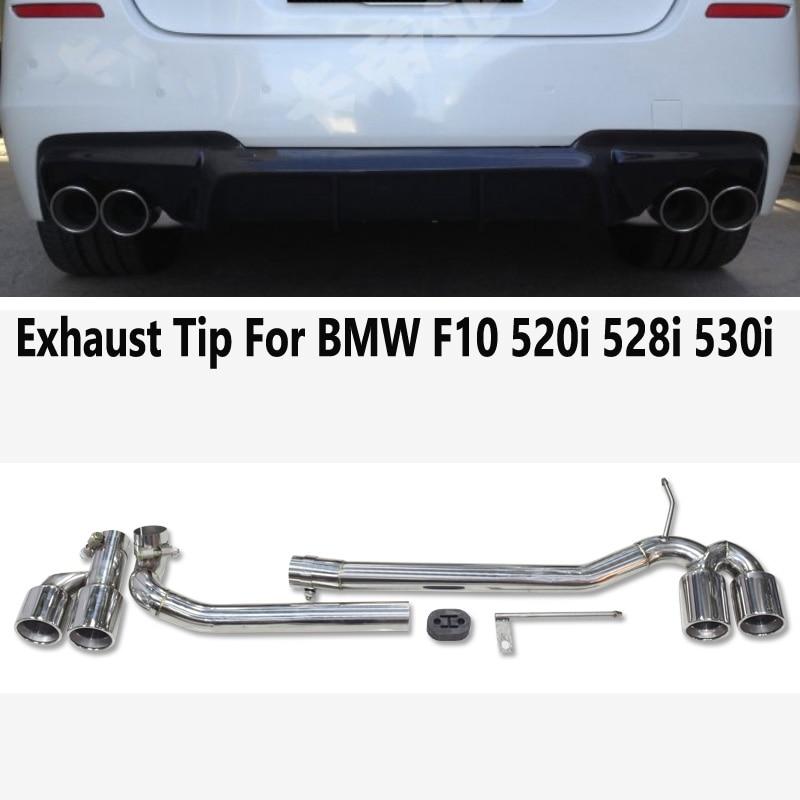 AK MUFFLERTIP العادم الخمار تلميح تلميح عوادم السيارات أنبوب العادم الفولاذ المقاوم للصدأ صالح BMW F10 525I 520I 528i 523i M الرياضة 5 سلسلة