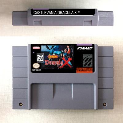 Castlevania Drácula X-tarjeta de juego de acción nos versión de idioma Inglés