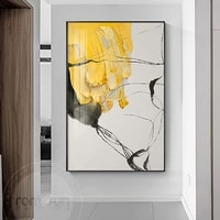 abstract yellow wall art painting texture canvas poster modern wall bright picture for living room bedroom studio nodic decor