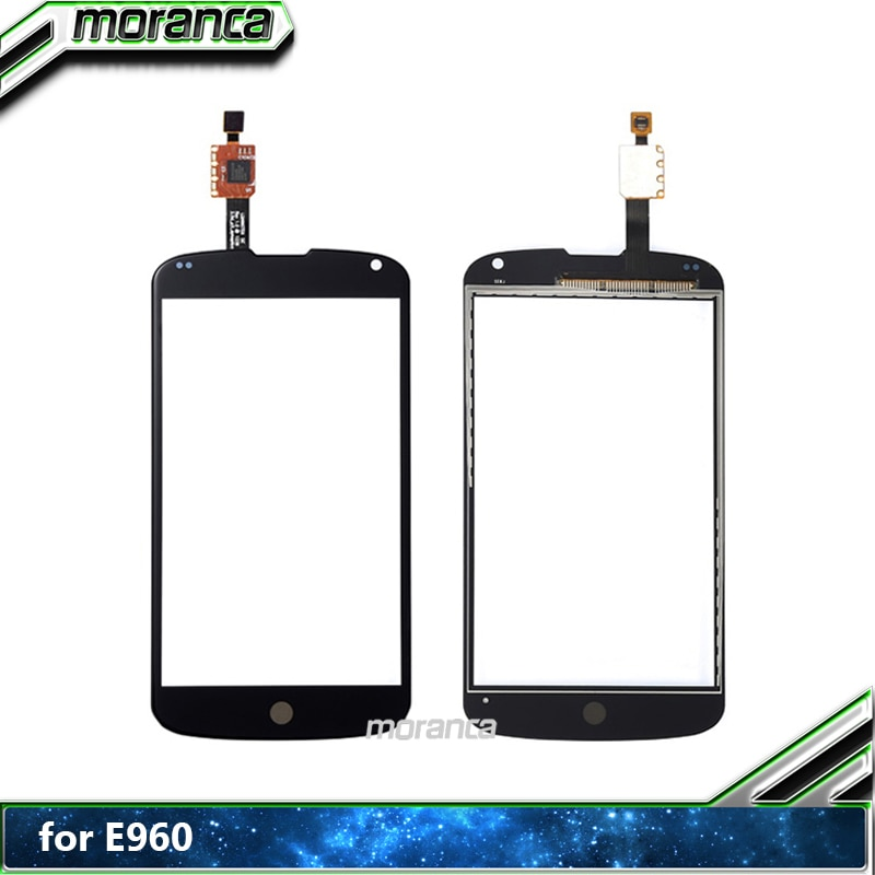 Nueva pantalla para LG Nexus 4 E960 doble pantalla táctil digitalizador Sensor frontal exterior cristal lente Panel negro piezas de repuesto