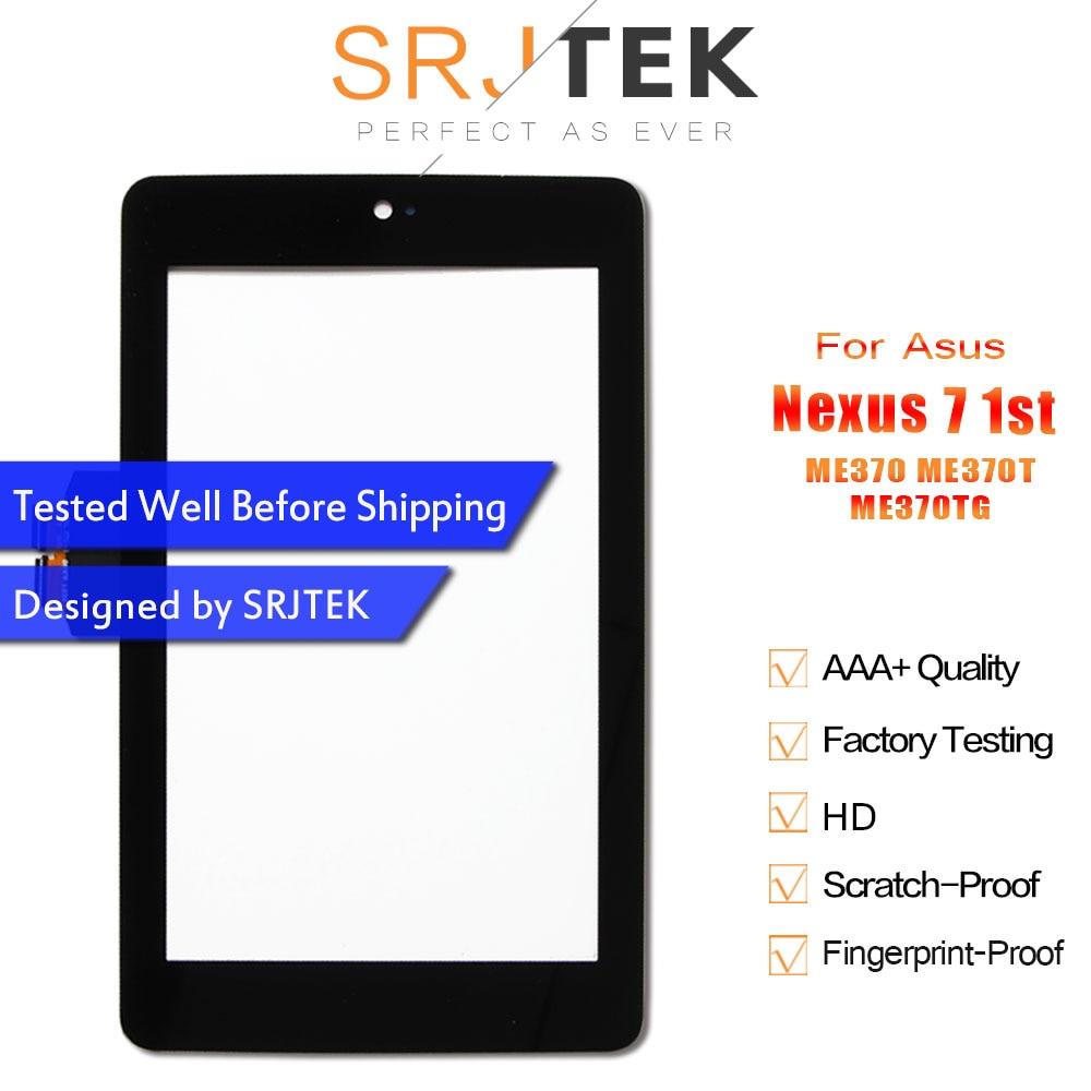 "Srjtek 7 ""para Asus Google Nexus 7 1st Gen Nexus7 2012 ME370 ME370T ME370TG pantalla táctil Tablet digitalizador piezas de repuesto de vidrio"