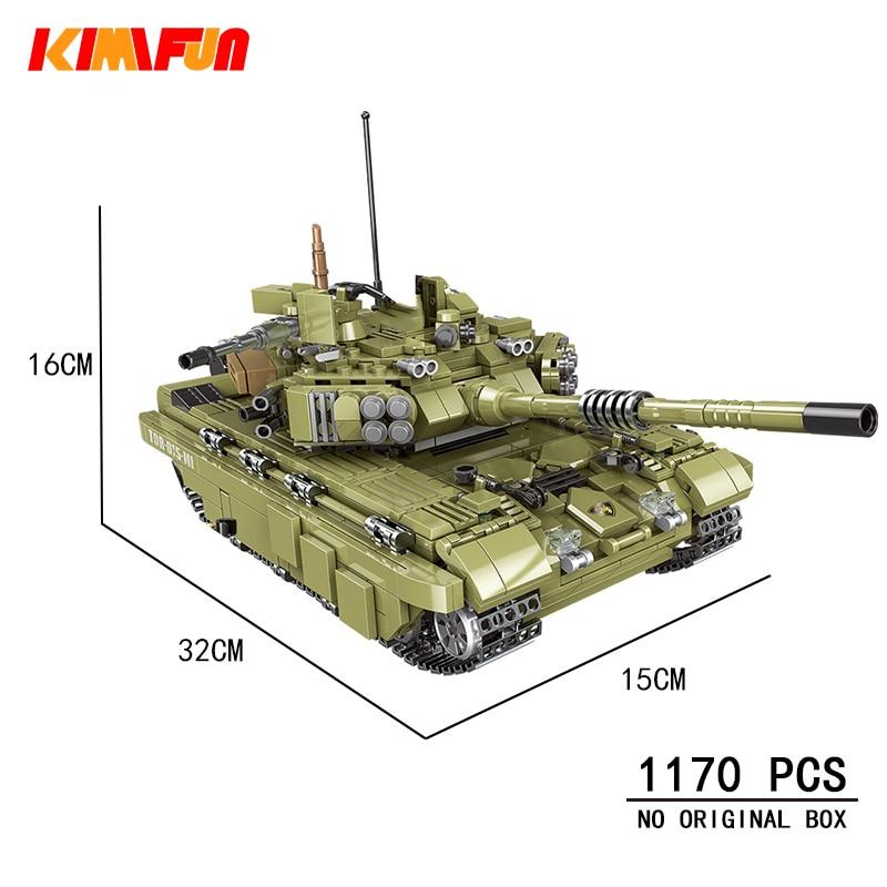 1000 + pièces modèle de réservoir militaire blocs de construction armée soldat arme briques enfants jouets simulé guerre Machine blocs compatibles