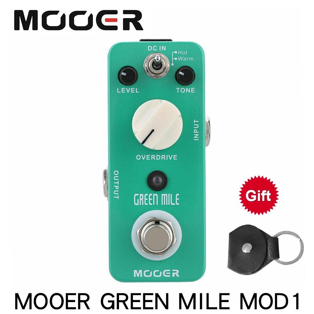 Mooer mod1 mile verde micro efeito de guitarra pedal mini overdrive pedal guitarra elétrica true bypass guitarra peças & acessórios