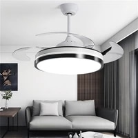 sarok ceiling lamp with fan 3 colors led remote invisible fan blade for home dining room bedroom parlor office