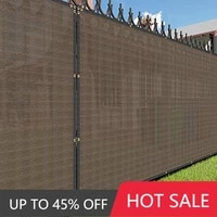 multi size brown balcony deck privacy screen cover outdoor backyard shade windscreen mesh fabric 90 commercial grade 150gsm