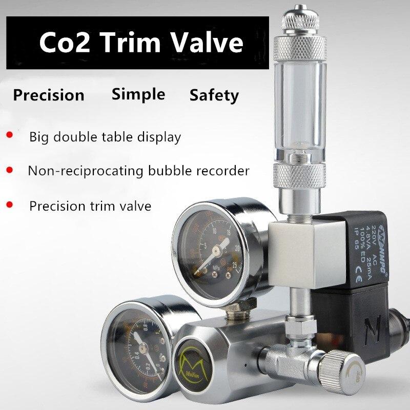220V Aquarium CO2 Regler Magnetische Magnet Kit Überprüfen Ventil CO2 Control System Reaktor Generator Set Fisch Tank Zubehör