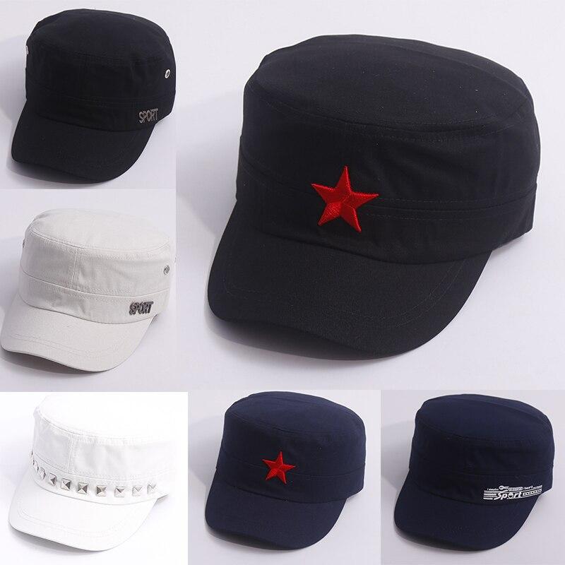 Большая коллекция! Мужские летние армейские кепки, регулируемые весенние бейсбольные Модные Классические хлопковые плоские военные шляпы ...