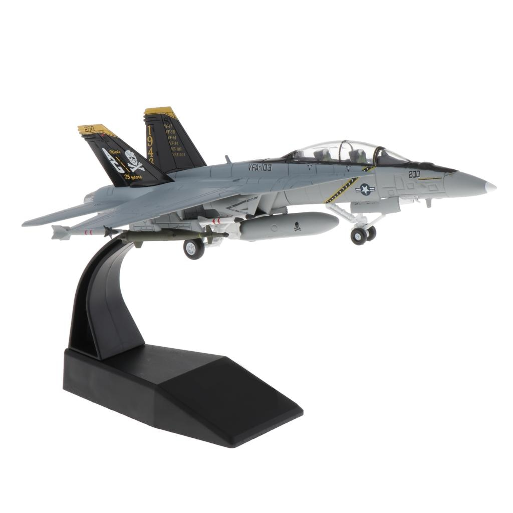 1/100 skala F/A-18 Strike Fighter Flugzeug Diecast Display Modell mit Stand