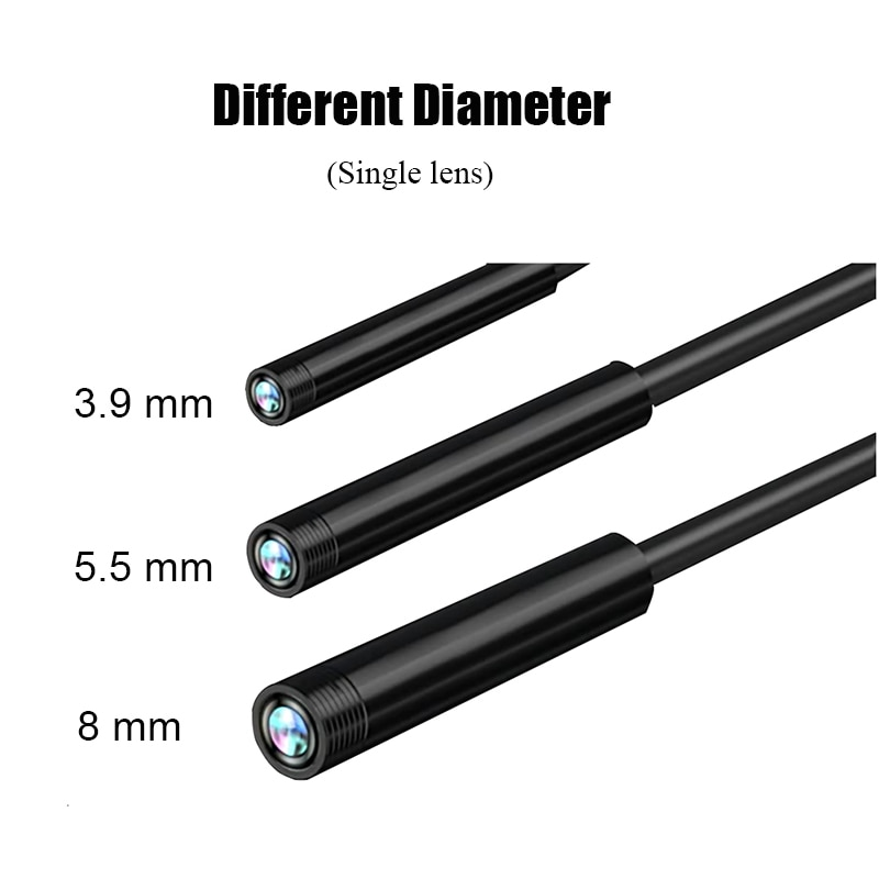 5.5mm 8mm Handheld Industrial  Endoscope Camera 1080P 4.3 inch HD Display Borescope for Car Repair Pipeline Inspection