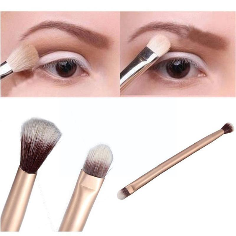 make up for ever double ended shader and smudger eye brush 204 Double-ended eyeshadow brush Eye Shadow Cosmetics Soft Tool Up Make Brush Q6L7