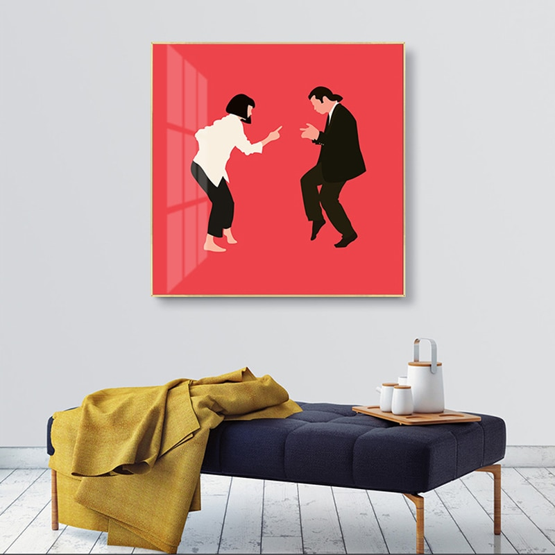 AliExpress - Indie Aesthetic Classic Pulp Fiction Minimalist Vintage Posters And Prints Photo For Wall Canvas Painting Living Room Decoration