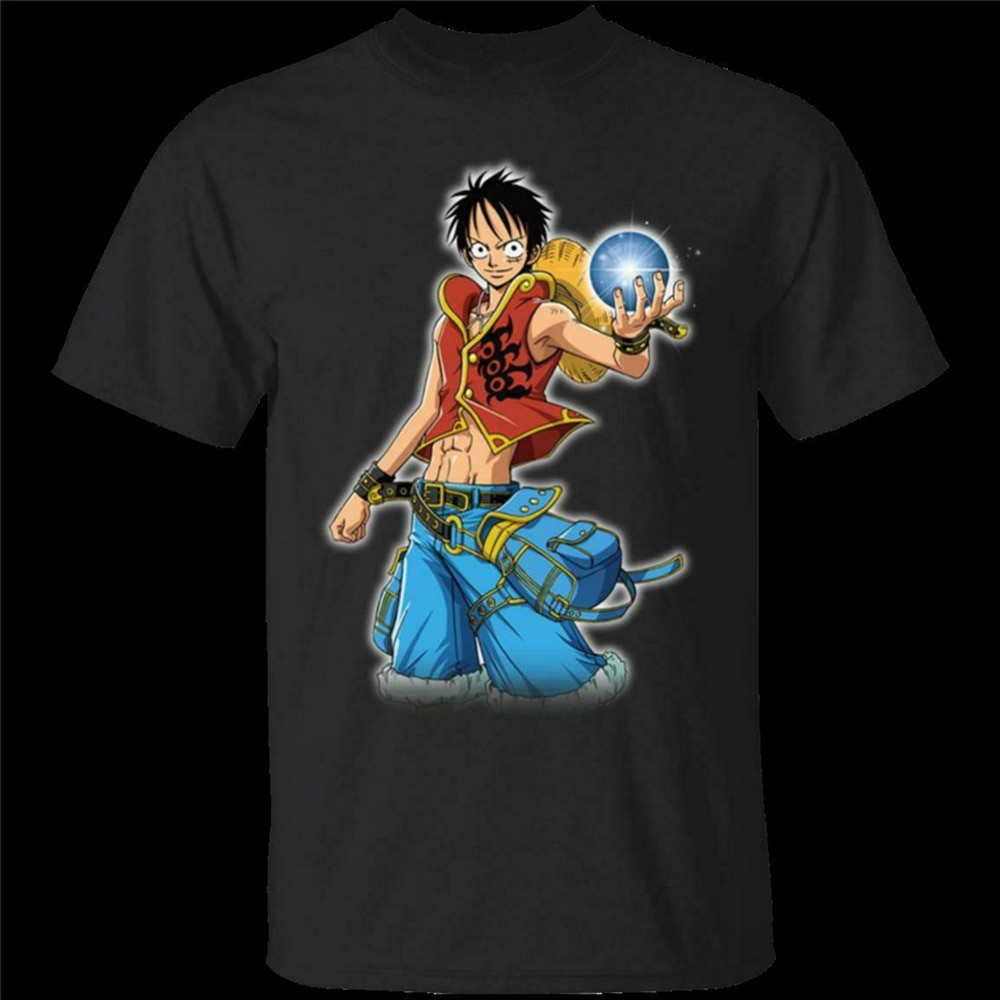 Una pieza Anime Tops Tee T camisa mono D Luffy vivo o muerto Hip-hop camiseta