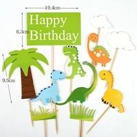 dinosaur theme cake toppers jungle safari birthday party1st birthday party jurassic world party baby shower boys birthday party