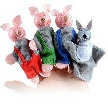 4 pièces cochon mignon doigt poupées enfants squishy marionnette garçons doux Marionnettes Petits Cochons filles jouets garçons doigt de noël cadeau