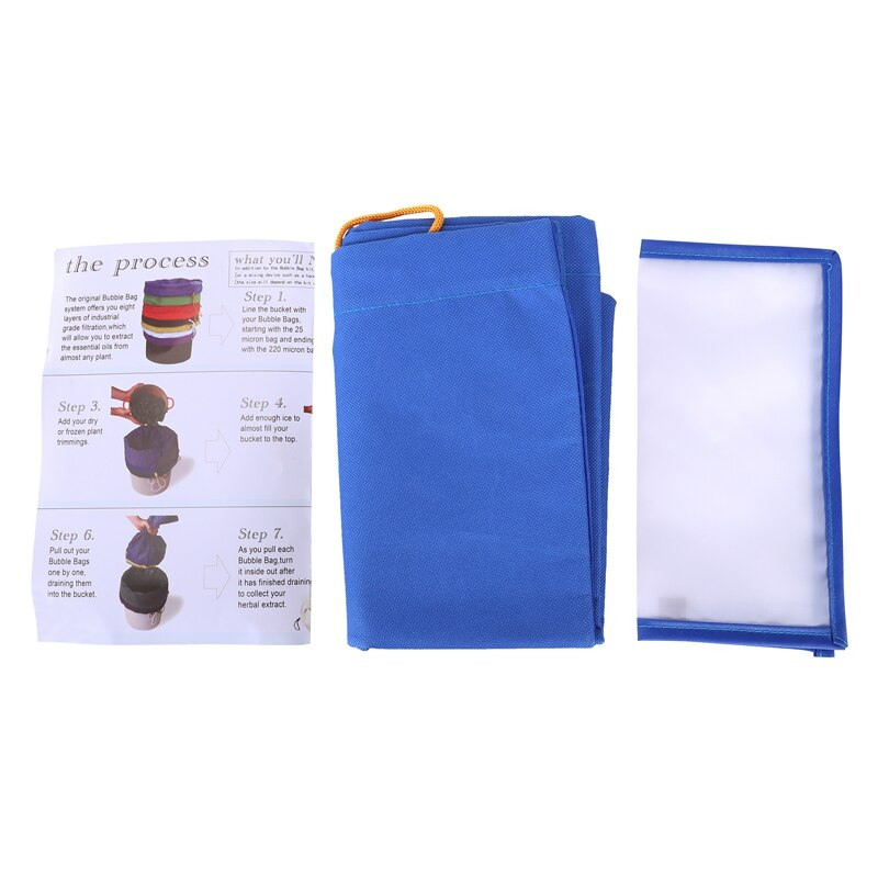 Pro essência extractor kit erval bolha de gelo hash saco de 5 galões com tela de pressão (azul 220 micron hash saco + tela de pressão)-abf