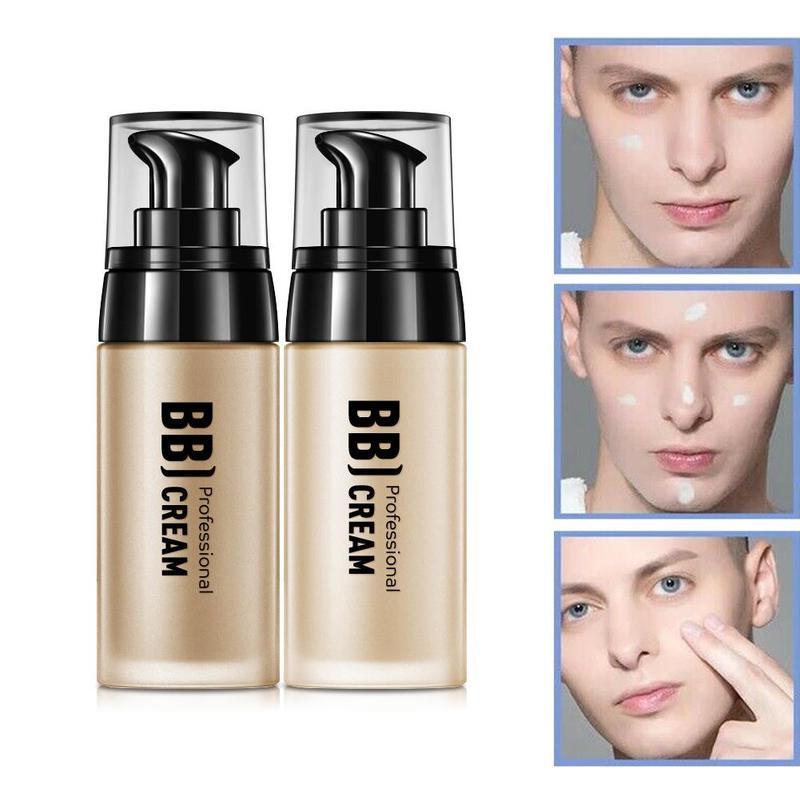 40ml hombres BB crema Natural de blanqueamiento cuidado de la piel para hombres cuidado eficaz protector solar Base de maquillaje para hombres Color de la piel