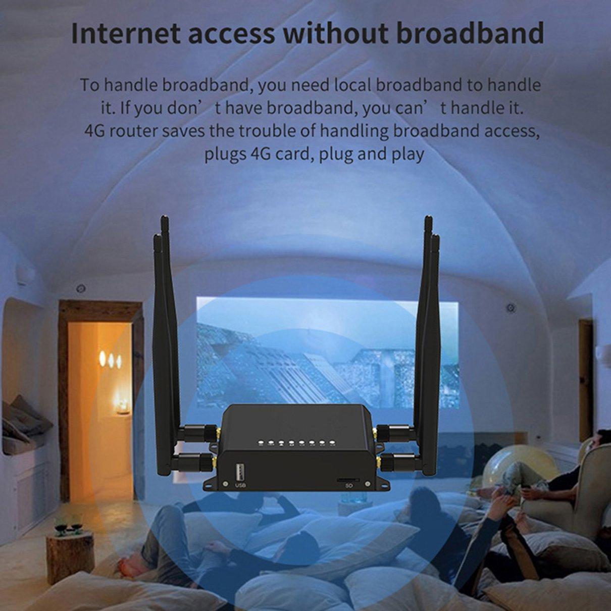 4G LTE OpenWRT Smart Router Extender High Power SIM Card WiFi Wireless External 5dbi Antenna Mo enlarge