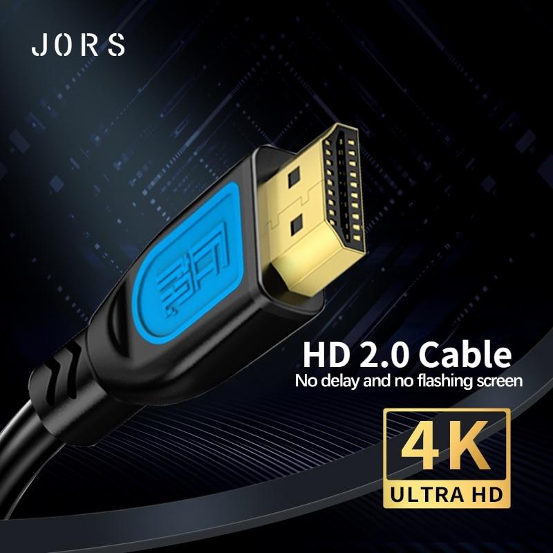 JORS compatible con HDMI Cable 4K 2,0 60Hz 3D dorada de alta...