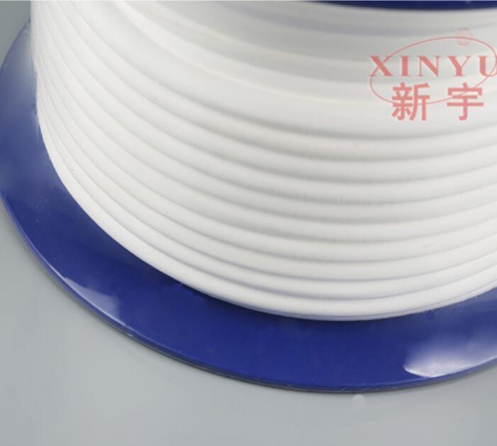 Varilla de sellado suave de PTFE expandida, relleno de ptfe embalaje de la glándula de ptfe, EPTFE embalaje de vástago de válvula, cinta de cable de PTFE expandida cuerda redonda
