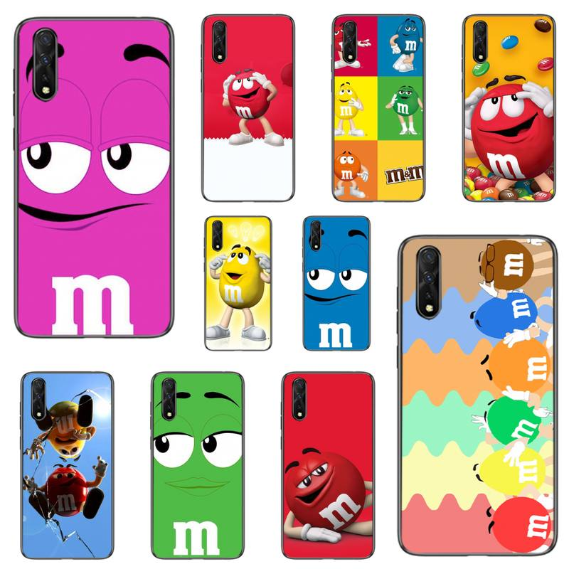 Chocolate M&Ms Food Phone Case For Samsung S6 S7 Edge S8 S9 S10 E lite2019 S20 Plus Cover Fundas Coq