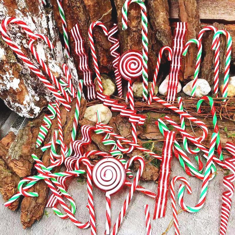 Adornos de Navidad plástico caña de caramelo Navidad coloridas más grandes muletas regalo de Navidad 2020 Año Nuevo Navidad colgante bueno
