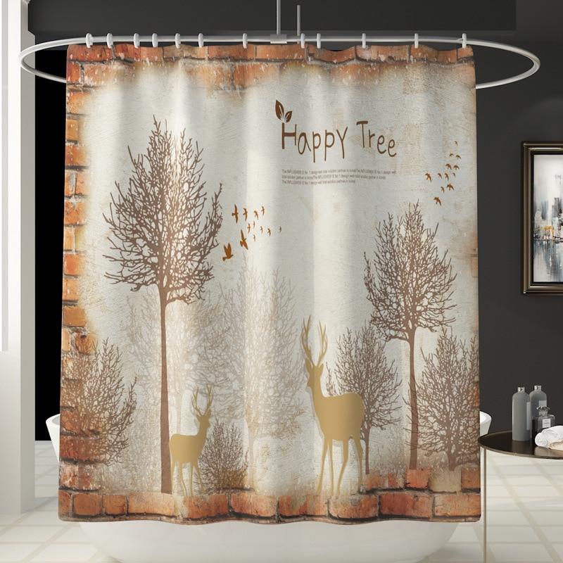 2020 Fashion Printed Toilet Mat Set Four Piece Bathroom Floor Mat Anti Slip Carpet Set Shower Curtain enlarge