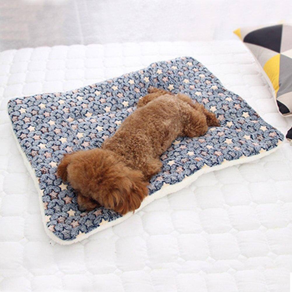 Cama de felpa para perros y gatos, lavable, redonda, pata de oso,...