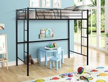 Moderne simple couche Loft lit jumeau chambre meubles enfant lit dortoir métal lattes lits maison école chambre ensemble 78x41x71.65inch
