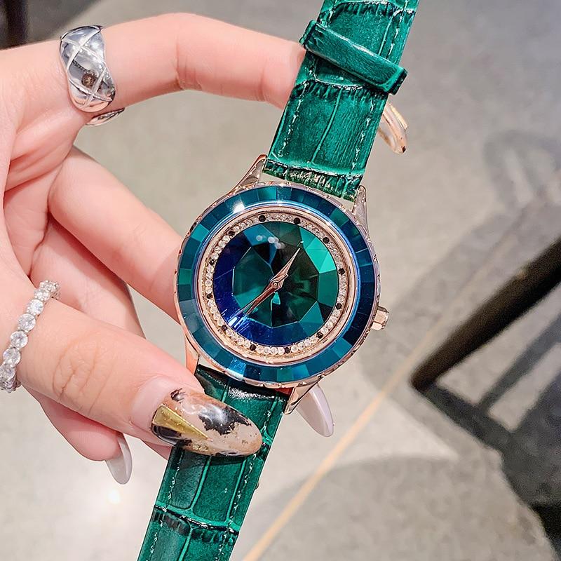 relojes para mujer New Woman Diamond Watch Women Watches Casual Bracelet Watch Luxury Leather Band Quartz Dress Clock Wristwatch
